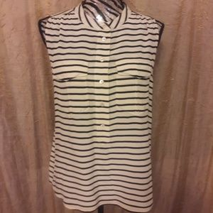 j.crew elodie sleeveless blouse in stripe
